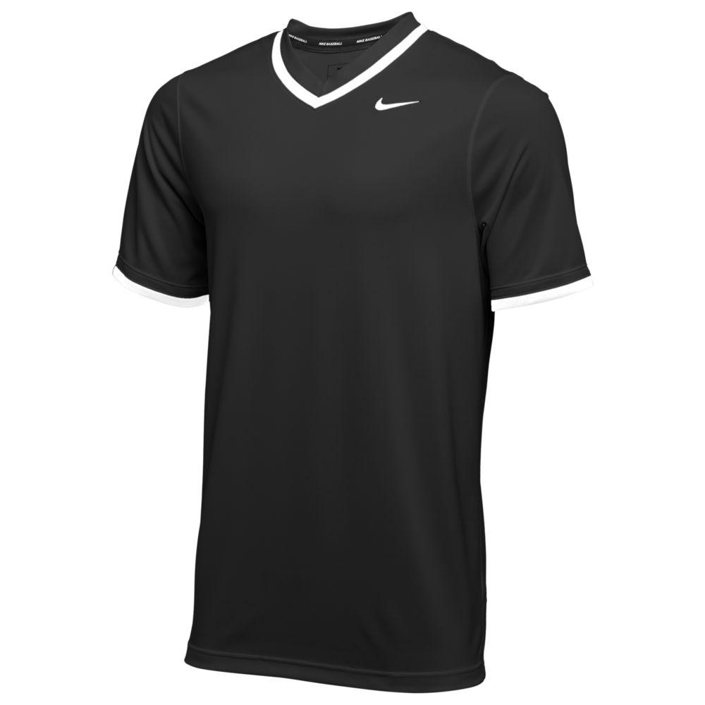 ナイキ Nike メンズ 野球 Vネック トップス【team vapor select v-neck jersey】Black/White