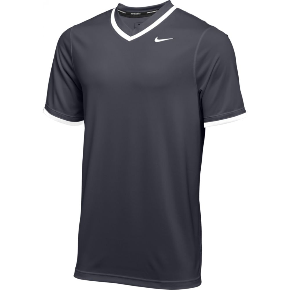 ナイキ Nike メンズ 野球 Vネック トップス【team vapor select v-neck jersey】Anthracite/White