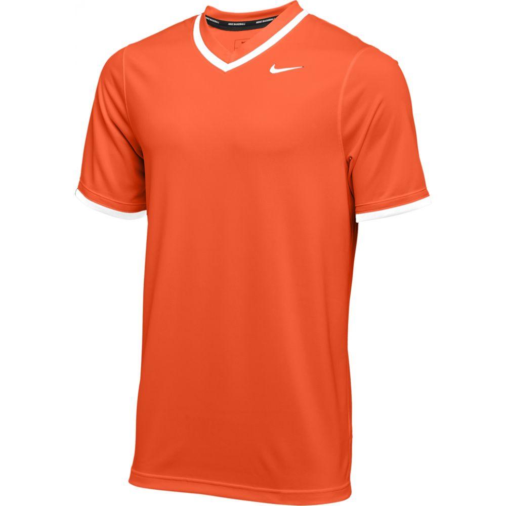 ナイキ Nike メンズ 野球 Vネック トップス【team vapor select v-neck jersey】Orange/White