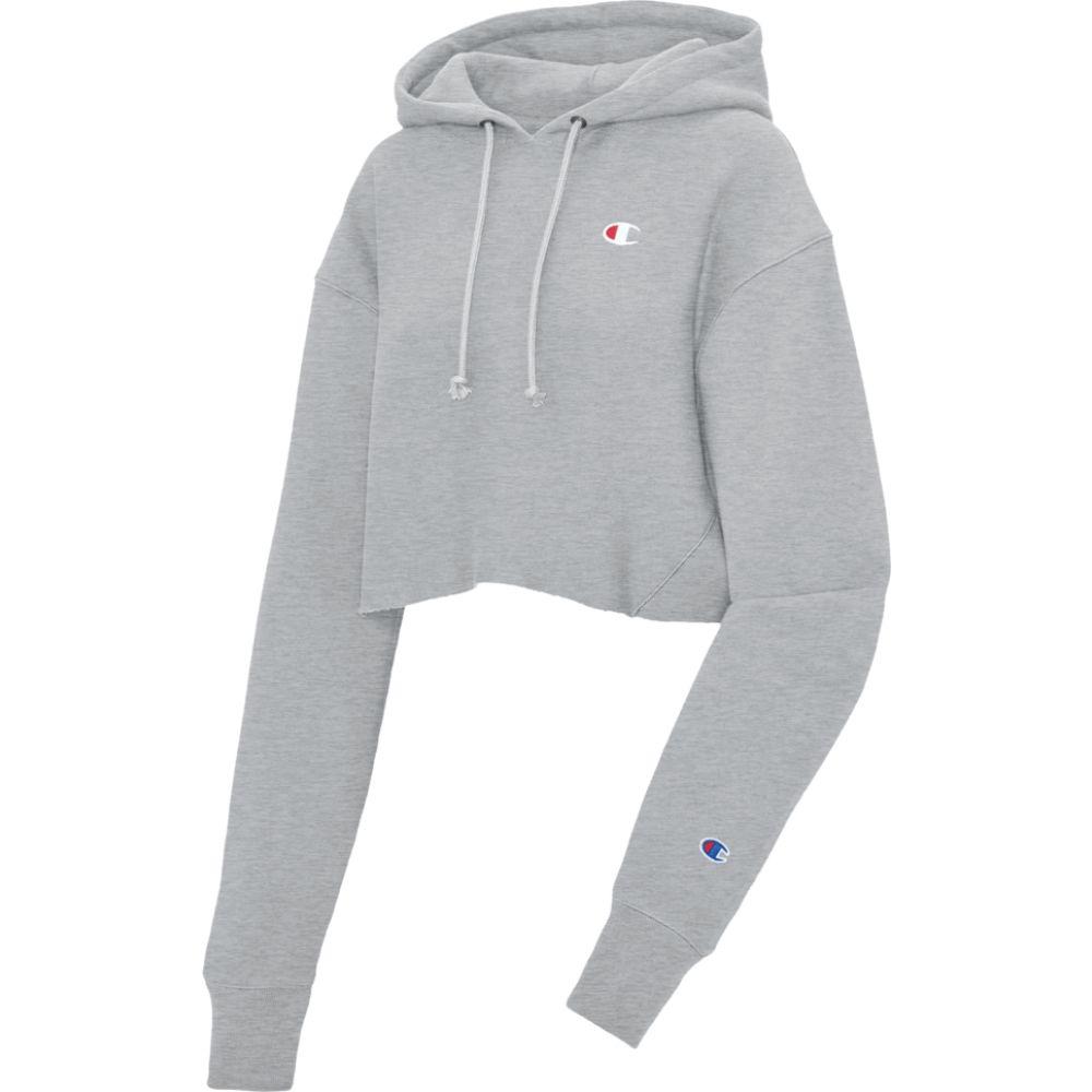 チャンピオン Champion レディース パーカー トップス【reverse weave cropped cut off hoodie】Oxford Grey