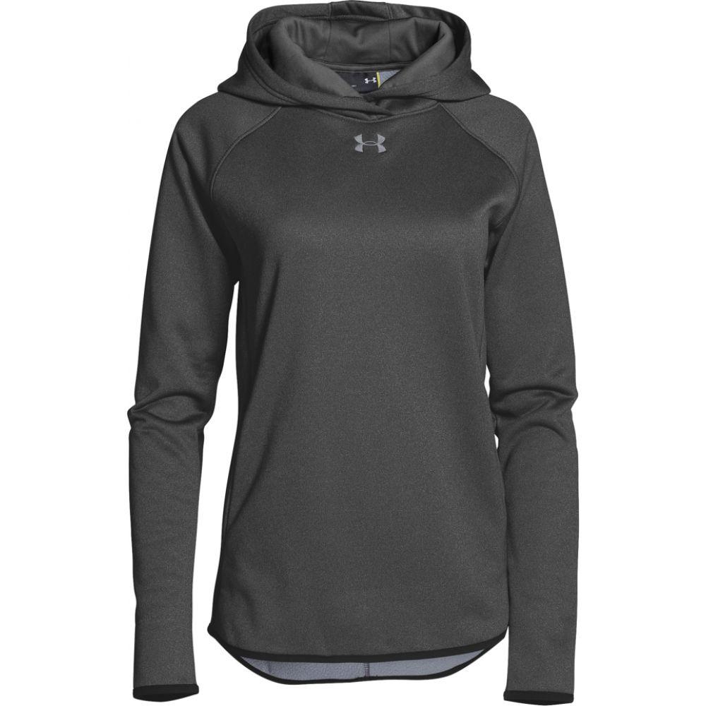 アンダーアーマー Under Armour レディース パーカー トップス【team double threat fleece hoodie】Carbon Heather/Steel