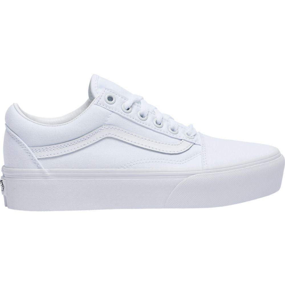 ヴァンズ Vans レディース スケートボード シューズ・靴【old skool platform】True White