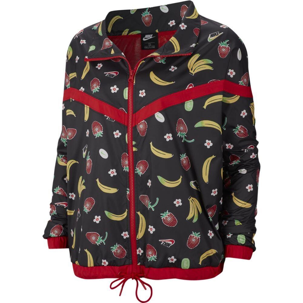 ナイキ Nike レディース ジャケット アウター【fruit aop woven jacket plus】Black