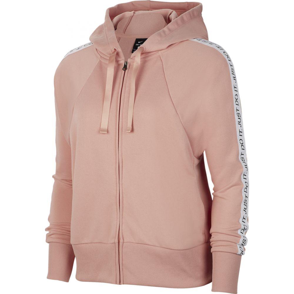ナイキ Nike レディース パーカー トップス【get fit jdi taped f/z hoodie】Pink Quartz