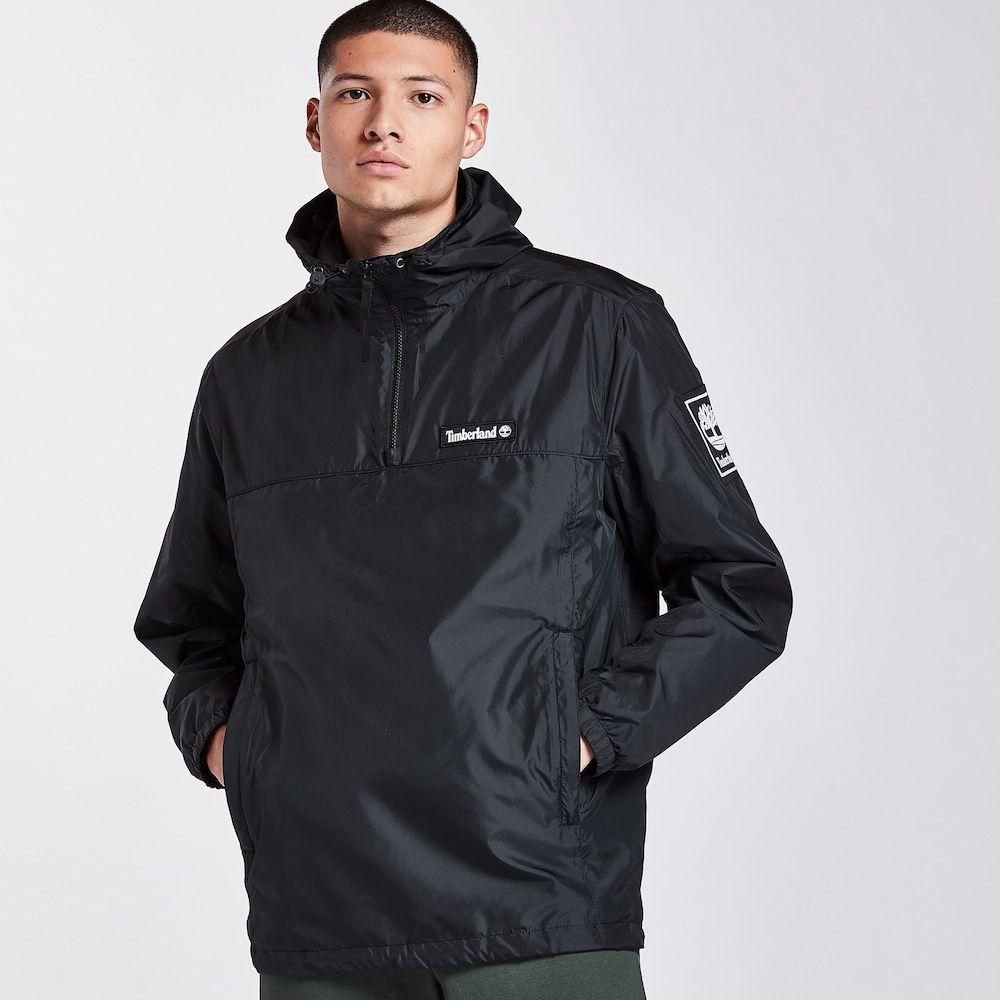 ティンバーランド Timberland メンズ ジャケット ウィンドブレーカー アウター【windbreaker pullover hoodie】Black/White
