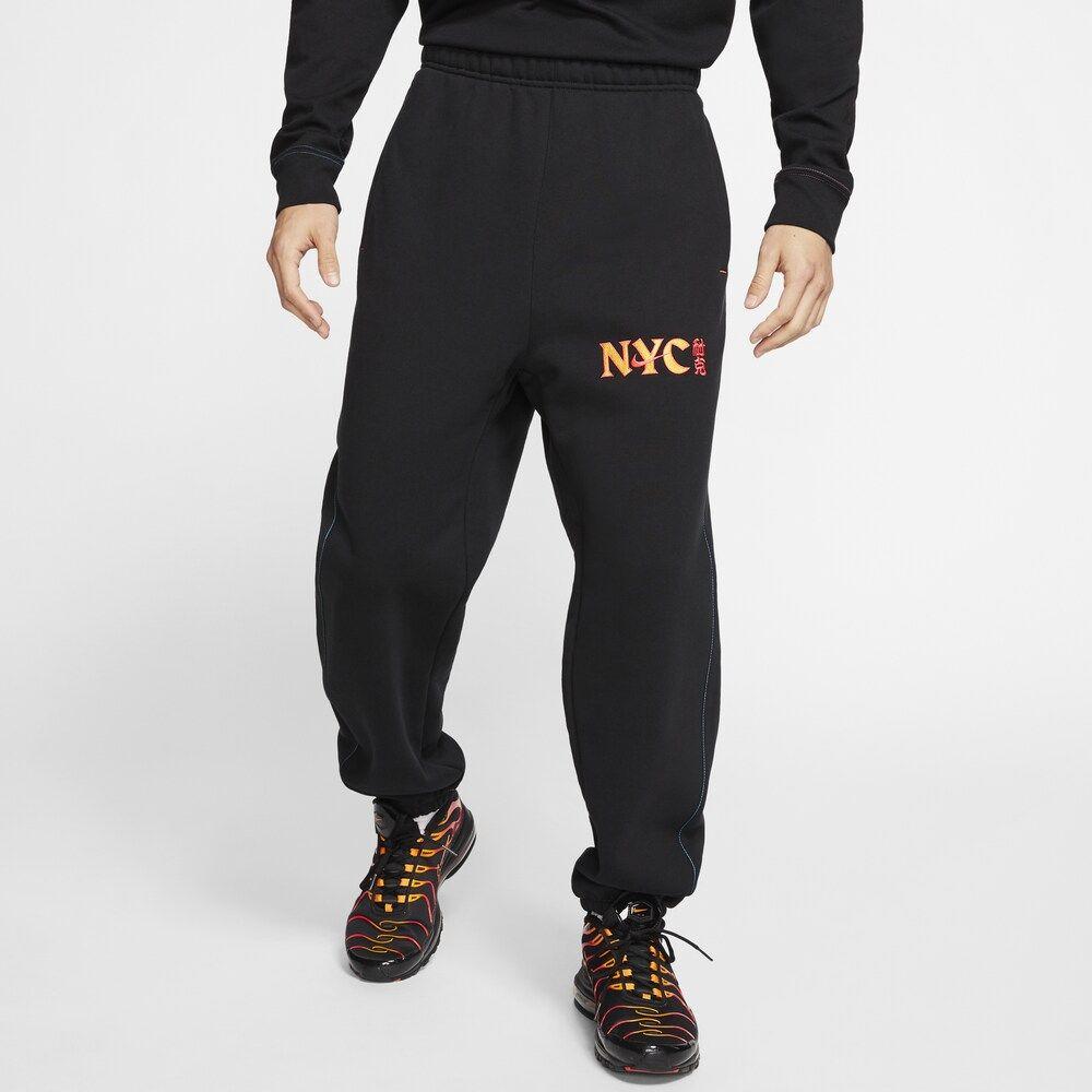 ナイキ Nike メンズ ボトムス・パンツ 【heavyweight nyc chinatown fleece pants】Black/Lotus Pink