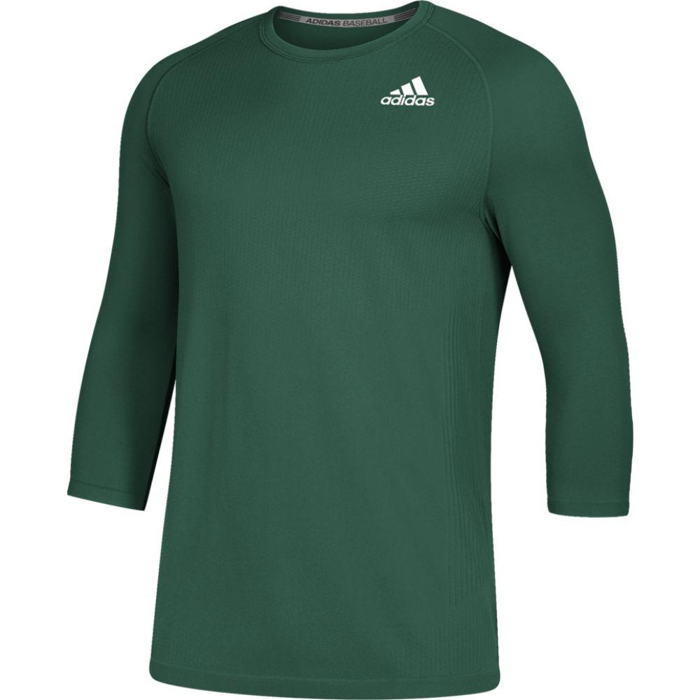 アディダス adidas メンズ 野球 ベースレイヤー トップス【fielder's choice 2.0 3/4 baselayer top】Dark Green