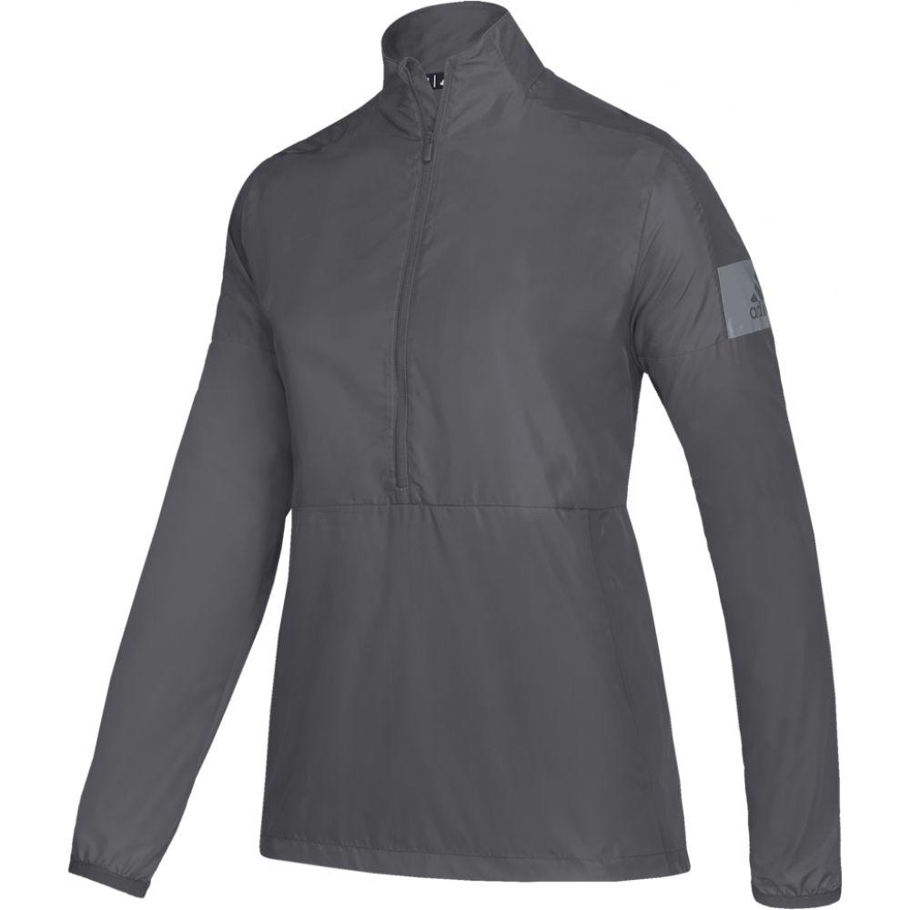 アディダス adidas レディース ジャケット アウター【team game mode l/s 1/4 zip jacket】Grey Five/Grey A5nr