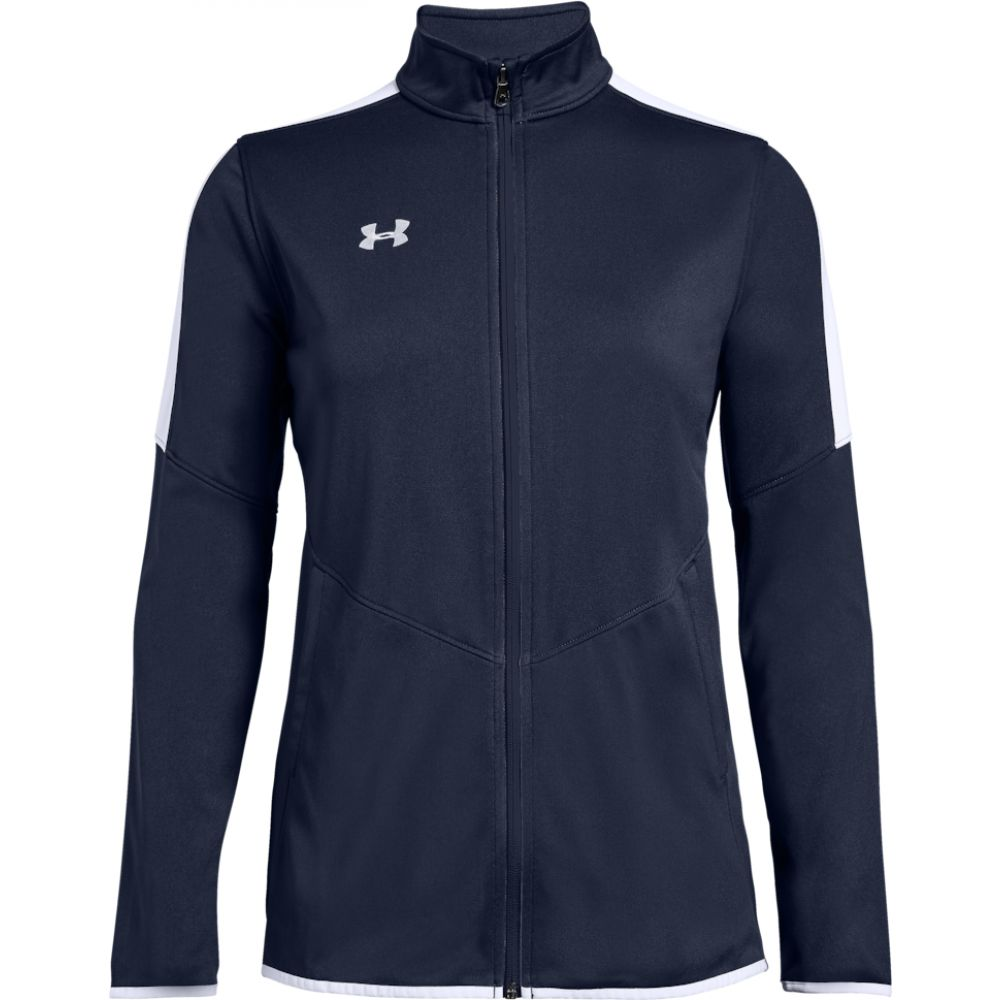 アンダーアーマー Under Armour Team レディース ジャケット アウター【team rival knit warm-up jacket】Midnight/White