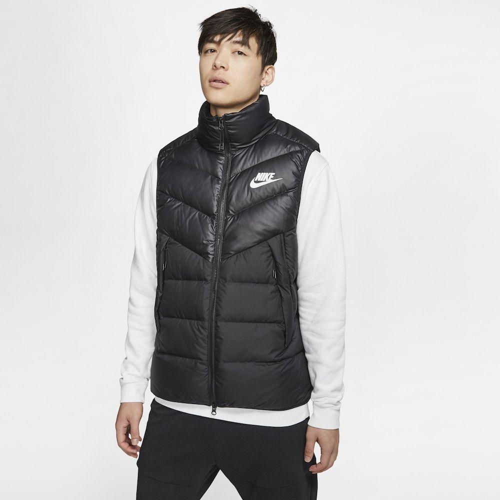 ナイキ Nike メンズ ベスト・ジレ ダウンベスト トップス【down fill windrunner vest】Black/White