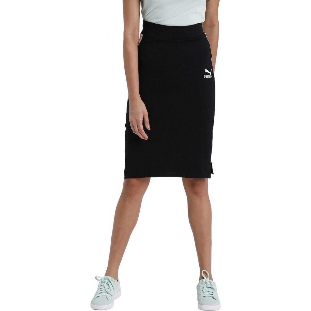 プーマ PUMA レディース ひざ丈スカート ペンシルスカート スカート【classics pencil skirt】Puma Black/Sunny Lime