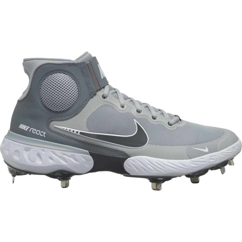 ナイキ Nike メンズ 野球 シューズ・靴【alpha huarache elite 3 mid】Light Smoke Grey/Iron Grey/White