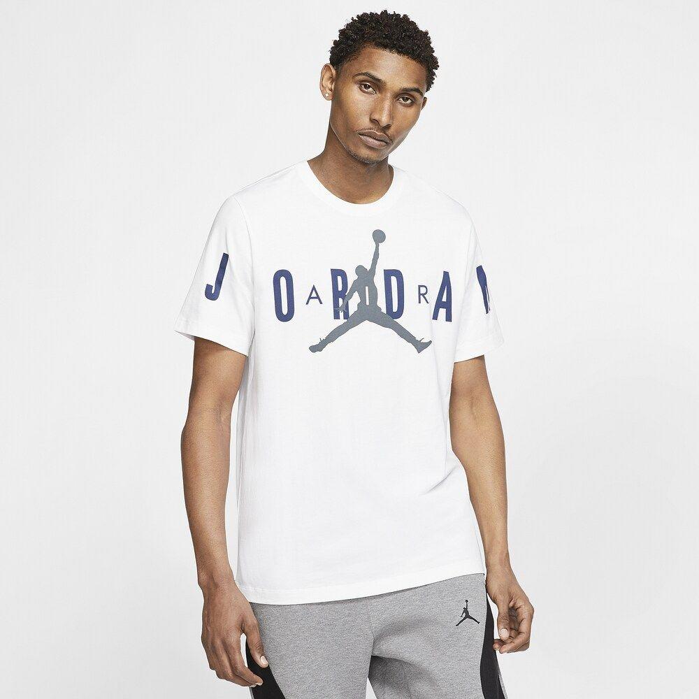 ナイキ ジョーダン Jordan メンズ Tシャツ トップス【brand stretch t-shirt】White/Navy/Flint Grey