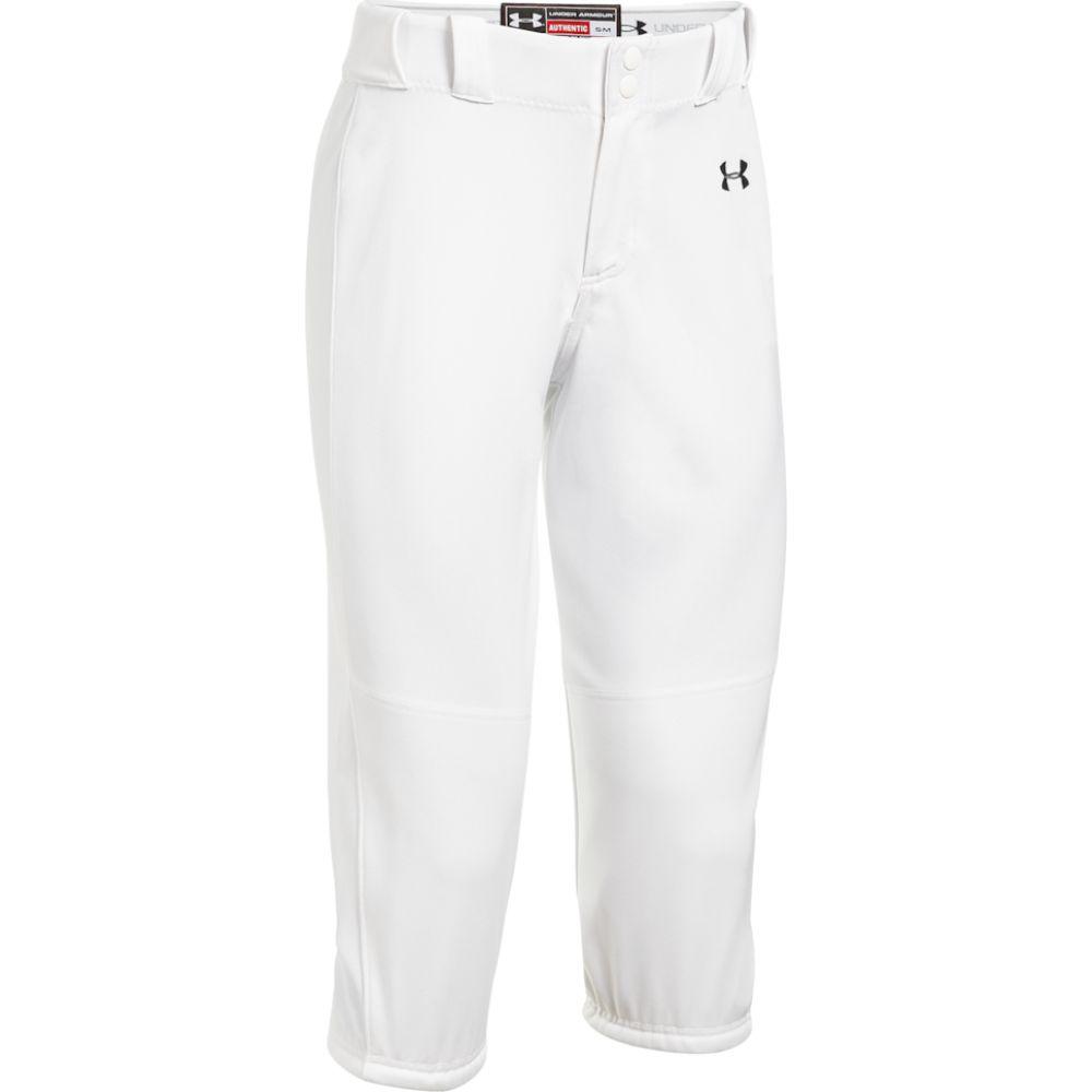 アンダーアーマー Under Armour レディース 野球 ボトムス・パンツ【team icon knicker pants】White/Black