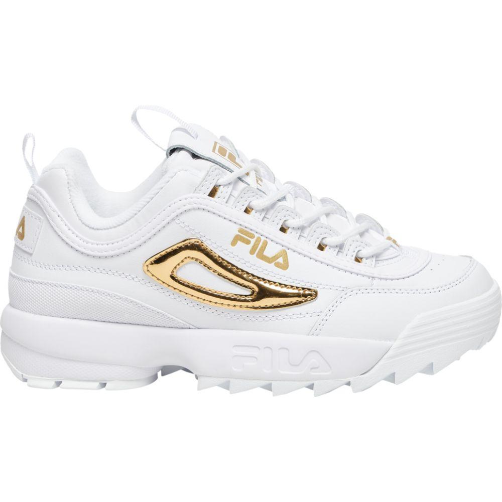 フィラ Fila レディース フィットネス・トレーニング シューズ・靴【disruptor ii metallic accent】White/Metallic Gold/White