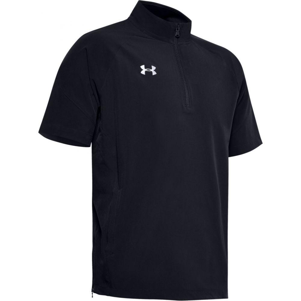 アンダーアーマー Under Armour メンズ フィットネス・トレーニング トップス【team motivate woven s/s 1/4 zip】Black/White