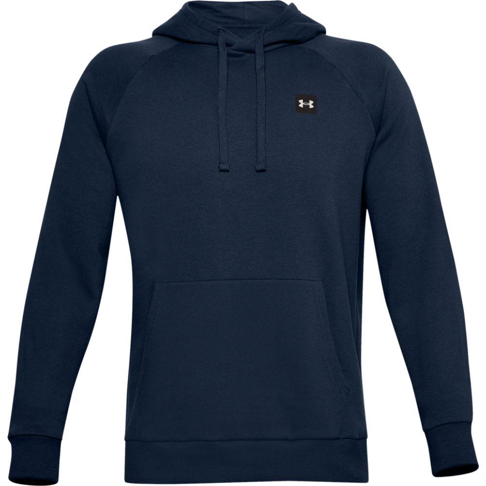 【おしゃれ】 アンダーアーマー Under Armour メンズ パーカー トップス【rival fleece lc logo hoodie】Academy/Onyx White, 小見川町 c51797e4