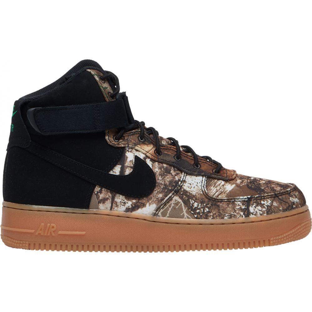 ナイキ Nike メンズ スニーカー エアフォースワン シューズ・靴【air force 1 high lv8】Black/Black/Aloe Verde/Gum Medium Brown Real Tree Camo
