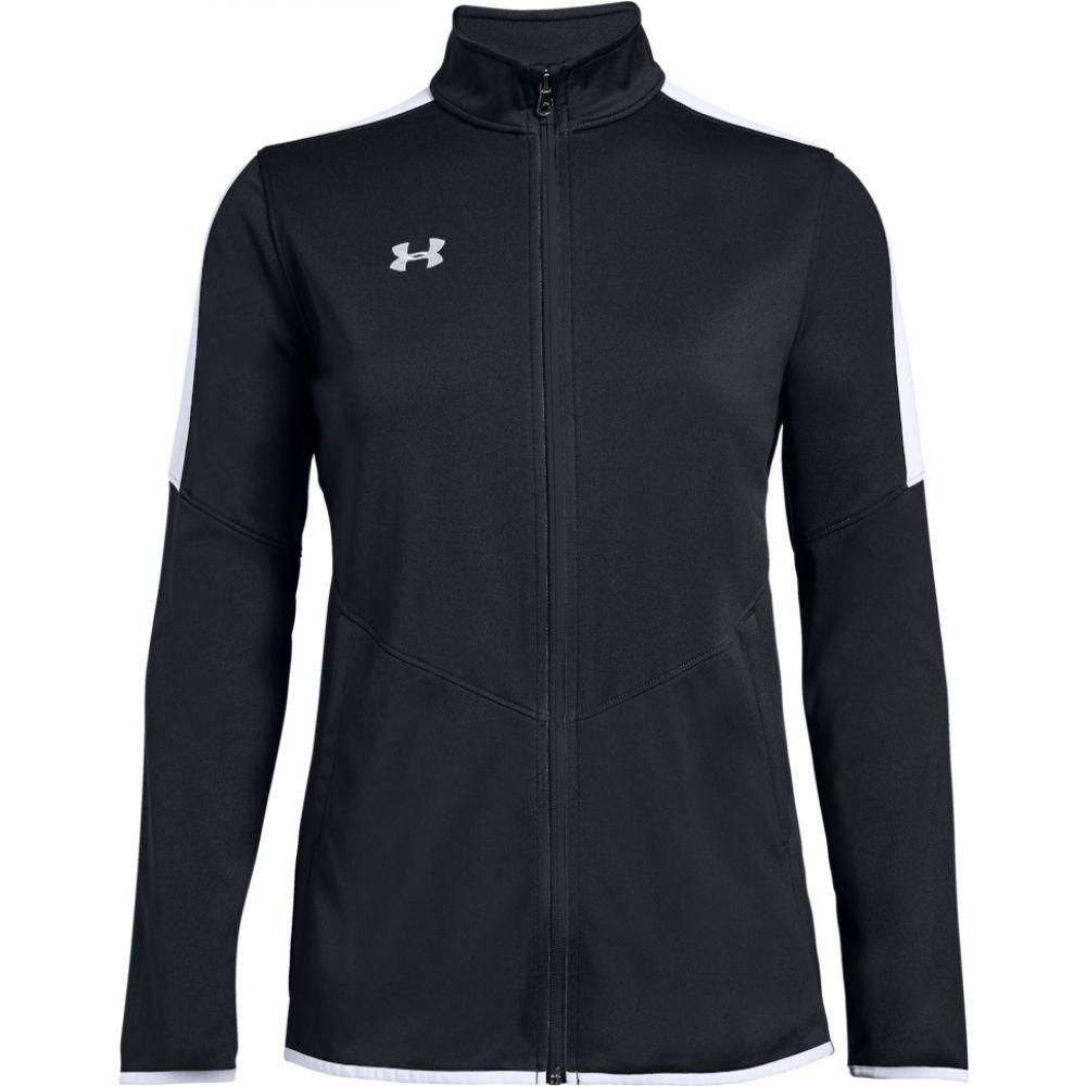 アンダーアーマー Under Armour Team レディース ジャケット アウター【team rival knit warm-up jacket】Black/White