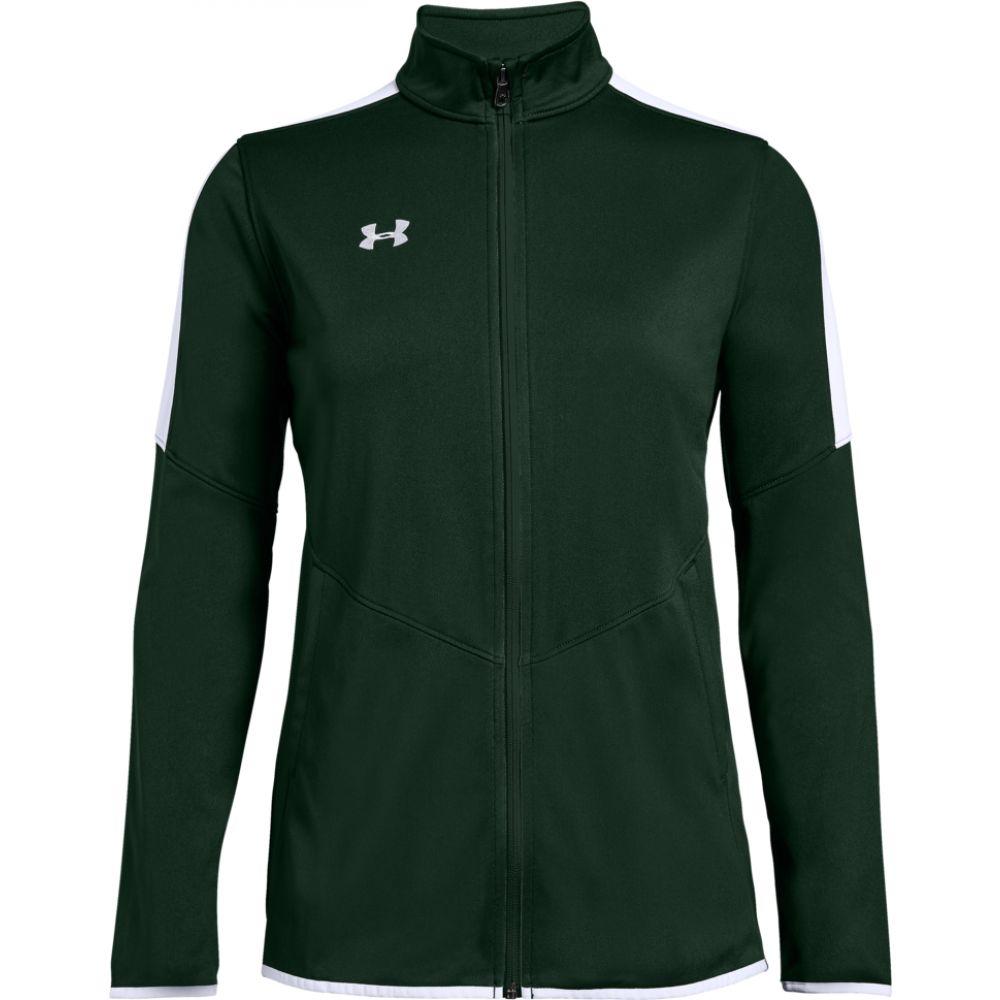 アンダーアーマー Under Armour Team レディース ジャケット アウター【team rival knit warm-up jacket】Green/White