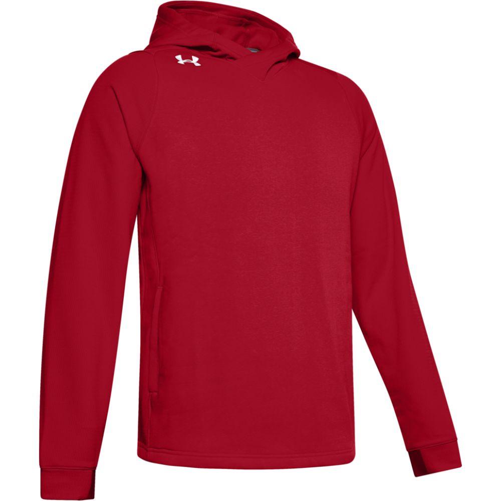 アンダーアーマー Under Armour メンズ フィットネス・トレーニング パーカー トップス【team elevated fleece hoodie】Red/White
