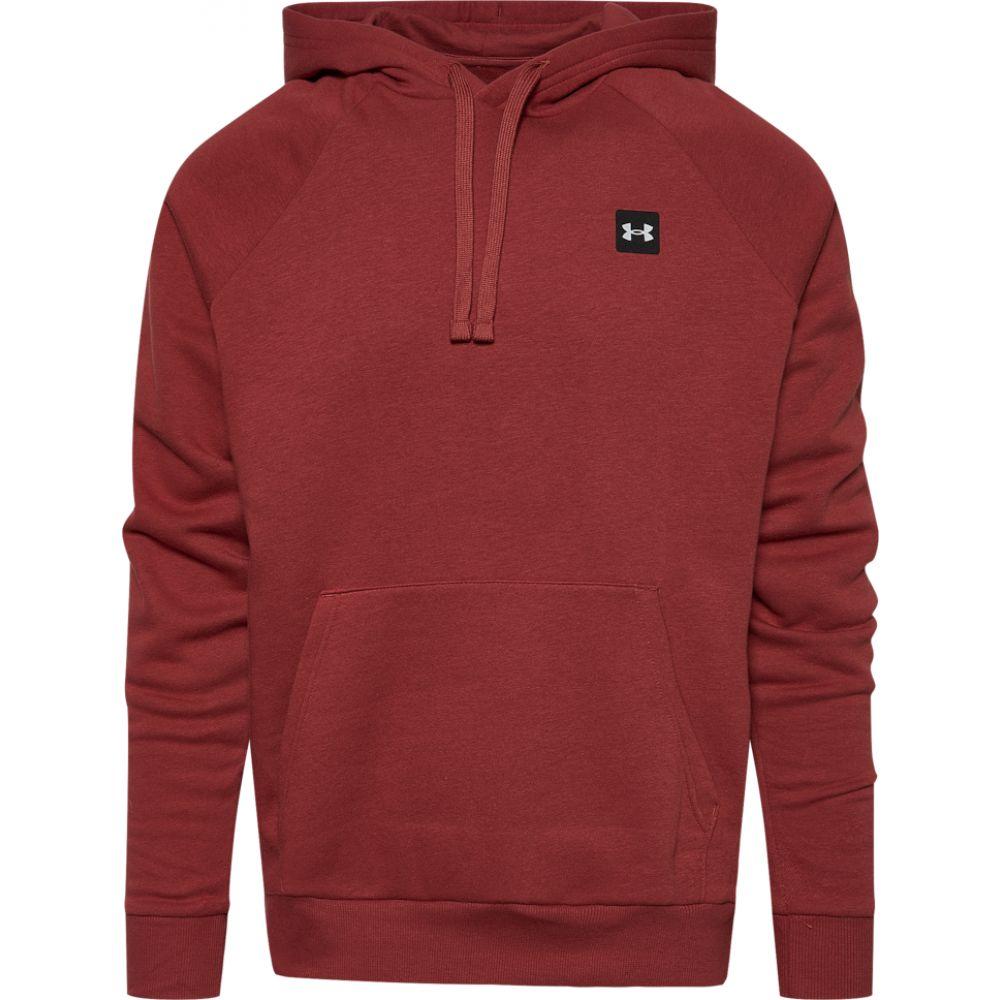 【同梱不可】 アンダーアーマー Under Armour メンズ パーカー トップス【rival fleece lc logo hoodie】Cinnamon Red/Onyx White, yoshihara garden 63296af9