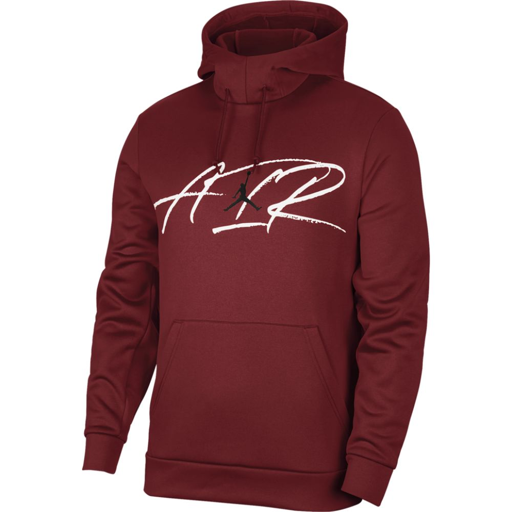 ナイキ ジョーダン Jordan メンズ フィットネス・トレーニング パーカー トップス【air therma fleece pullover hoodie】Gym Red/Black