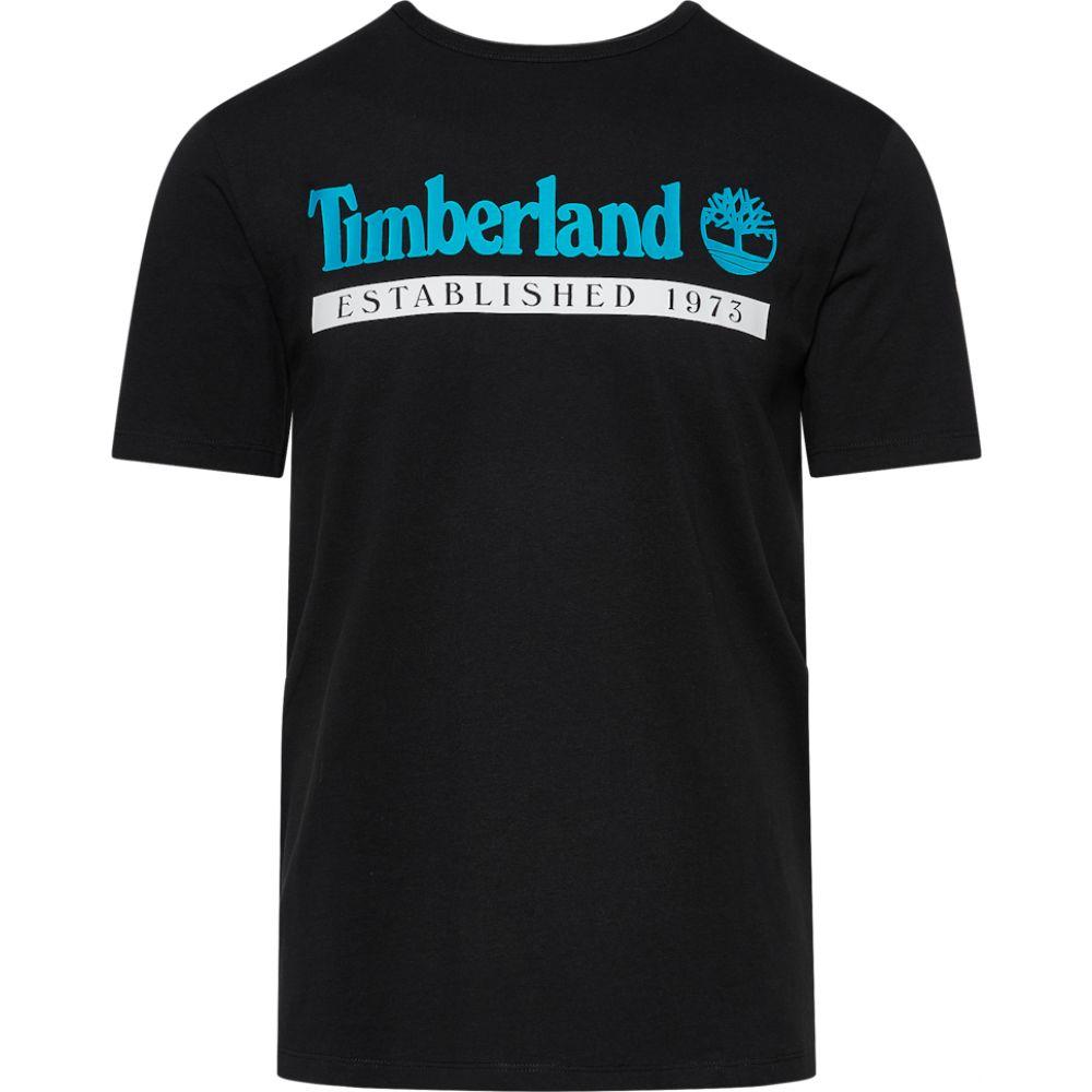 【オープニング大セール】 ティンバーランド Timberland メンズ Tシャツ トップス【established 1973 t-shirt】Black/White, 薮塚本町 f854cd85