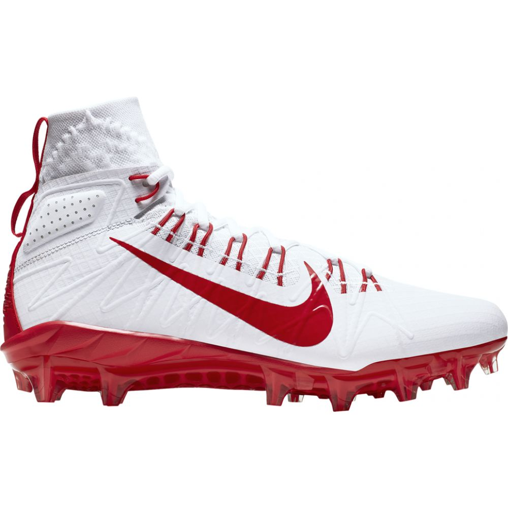ナイキ メンズ ラクロス シューズ・靴 White/University Red/Gym Red 【サイズ交換無料】 ナイキ Nike メンズ ラクロス シューズ・靴【Alpha Huarache 7 Elite LAX】White/University Red/Gym Red