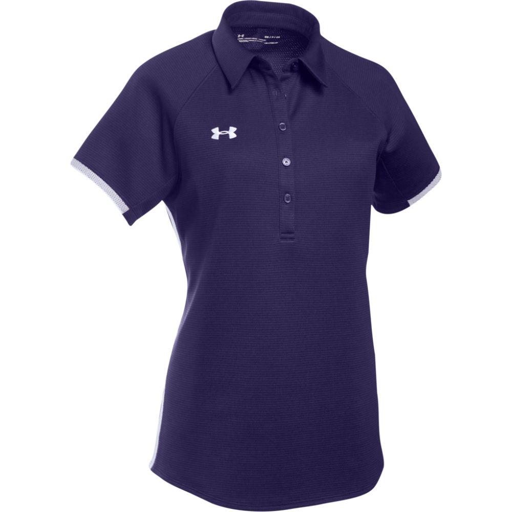 アンダーアーマー レディース トップス ポロシャツ Purple White 早割クーポン Polo Team Under Armour Rival サイズ交換無料 バーゲンセール