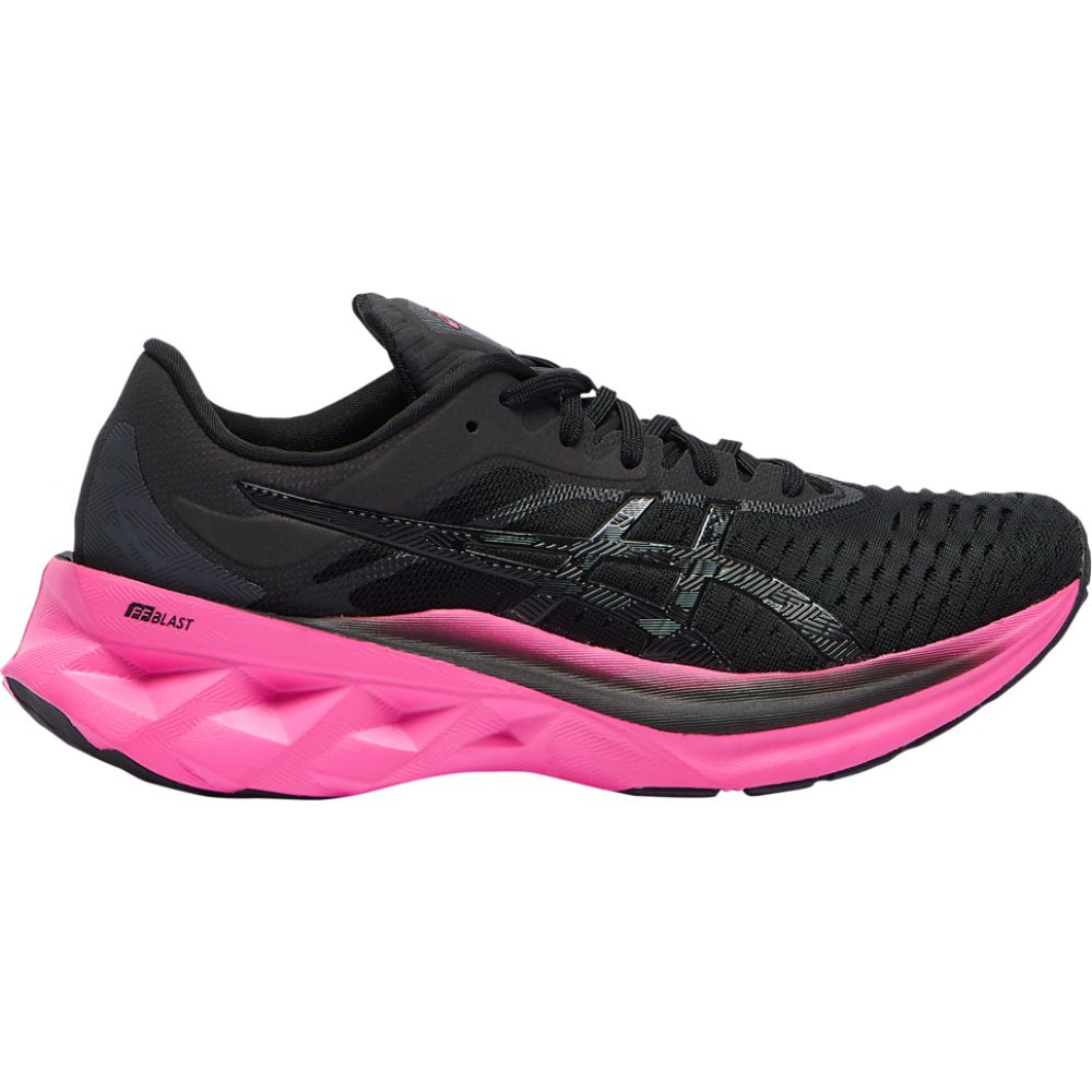 <title>アシックス レディース ランニング ウォーキング シューズ 靴 Black Pink 日本製 Glo サイズ交換無料 ASICS Novablast</title>