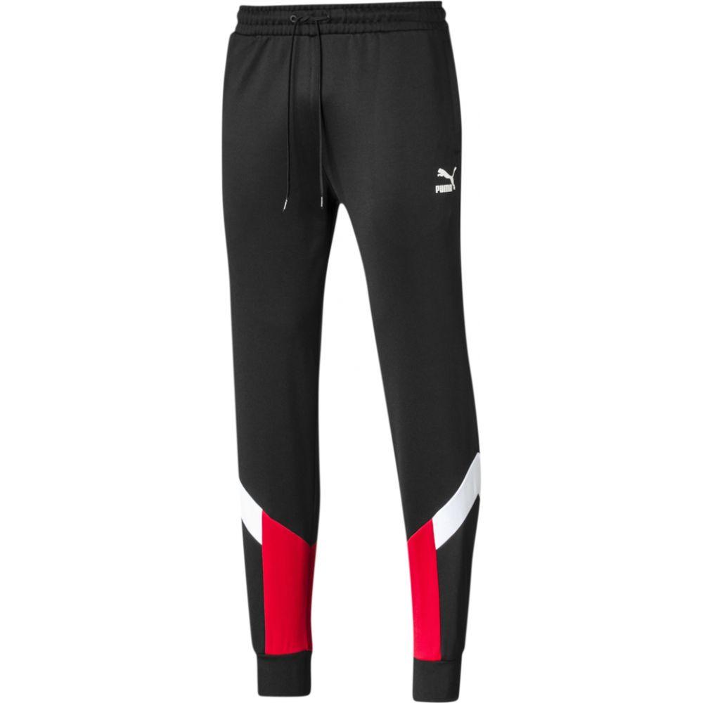 MCS PUMA Track メンズ Risk ボトムス・パンツ【Iconic プーマ Pants】Black/High Red スウェット・ジャージ