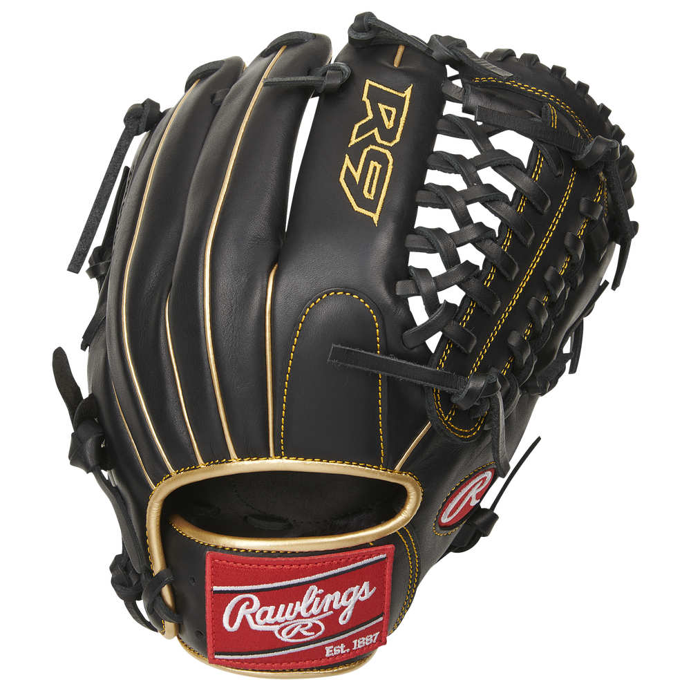 ローリングス ユニセックス 野球 グローブ オリジナル Black Gold Worn On Left Hand Series サイズ交換無料 新品 Rawlings 11.75 R9 Glove Fielding MT-Web 野手用