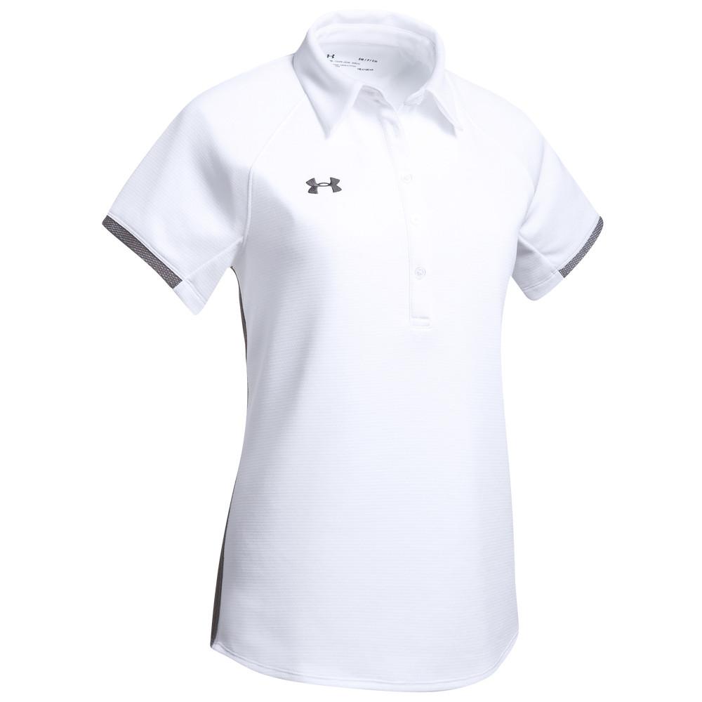 アンダーアーマー レディース トップス ポロシャツ White Graphite Armour 通常便なら送料無料 サイズ交換無料 Under Team 結婚祝い Polo Rival