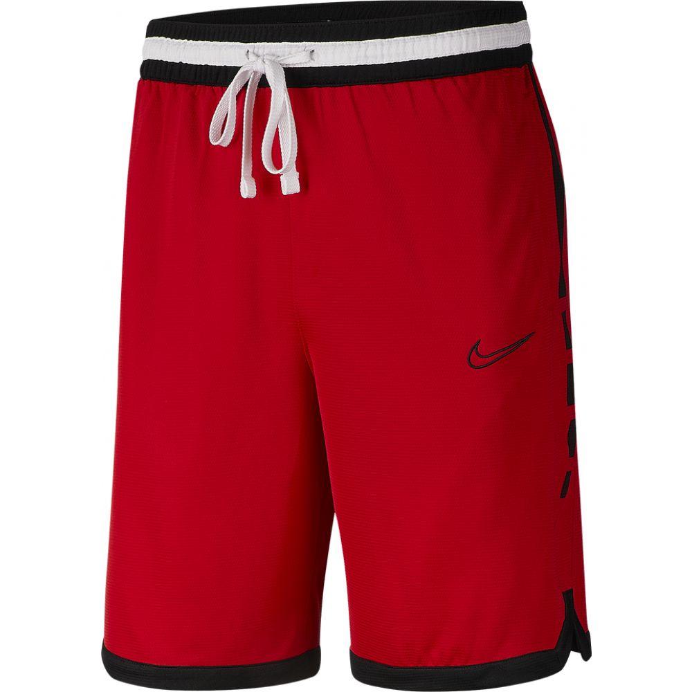 メーカー公式 ナイキ メンズ バスケットボール ボトムス パンツ University Red 新品■送料無料■ Black Elite Shorts ショートパンツ サイズ交換無料 Nike Stripe 10