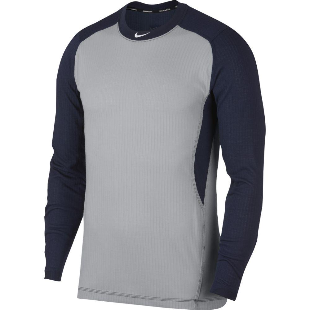 ナイキ メンズ 野球 トップス Wolf Grey College Navy サイズ交換無料 White Top Game Nike 日本全国 送料無料 Long 供え Sleeve