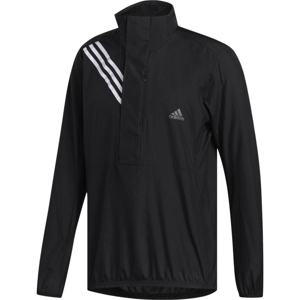 アディダス メンズ 大注目 ランニング ウォーキング アウター 商品追加値下げ在庫復活 Black サイズ交換無料 adidas Stripe Run It Jacket Anorak アノラック 3