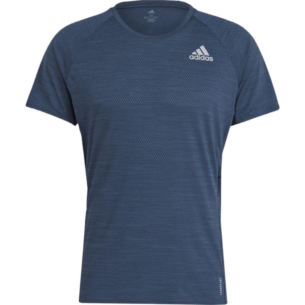 新商品 新型 アディダス メンズ ランニング 大特価!! ウォーキング トップス Navy T-Shirt Sleeve Runner サイズ交換無料 Short adidas