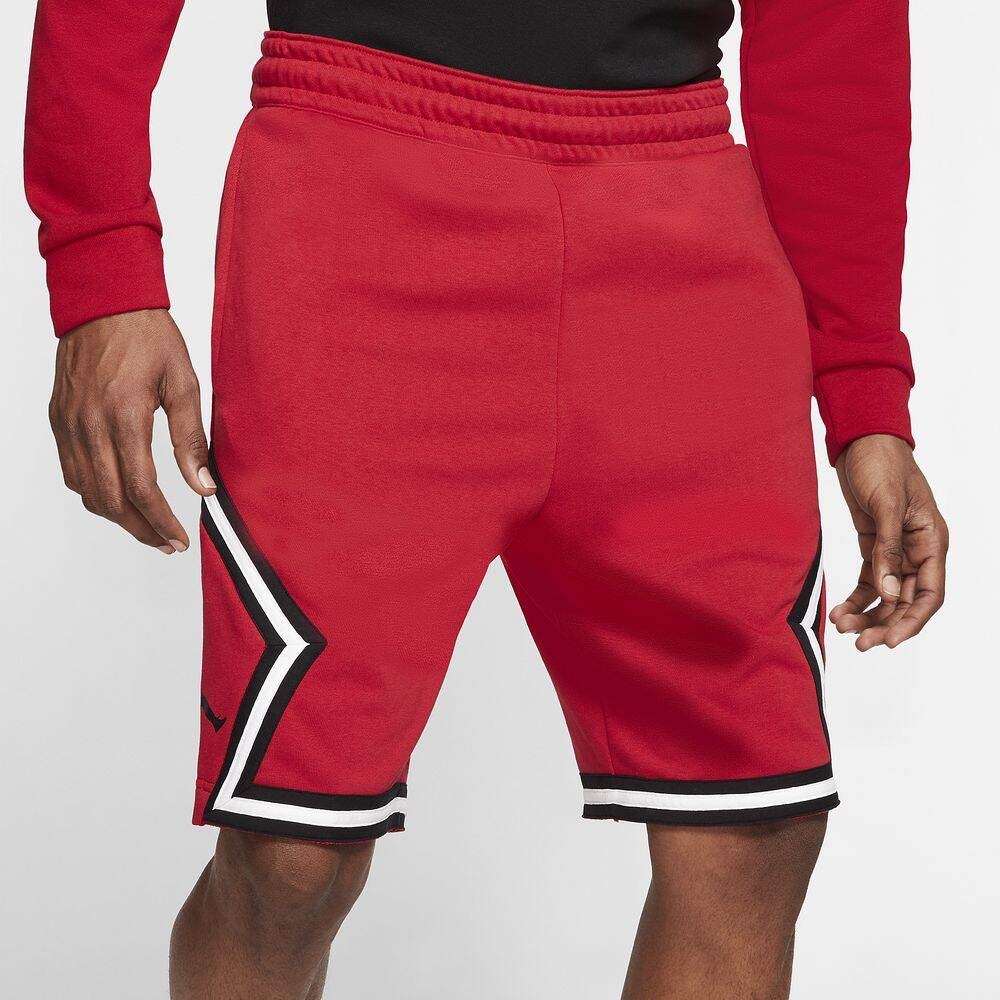 ナイキ ジョーダン メンズ バスケットボール ボトムス 贈呈 パンツ Gym Red Black ジャンプマン 通信販売 サイズ交換無料 Jumpman Diamond Shorts Jordan ショートパンツ Fleece
