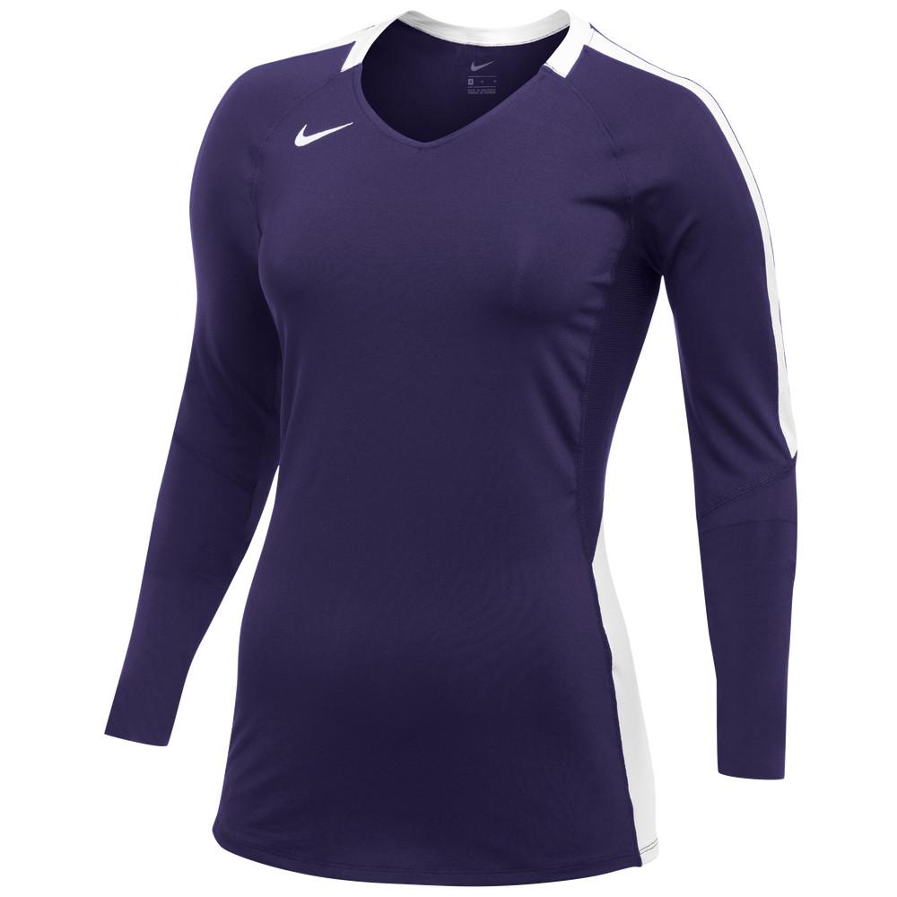 ナイキ レディース バレーボール トップス Purple 保障 White サイズ交換無料 メイルオーダー Team Pro Jersey S Nike L Vapor