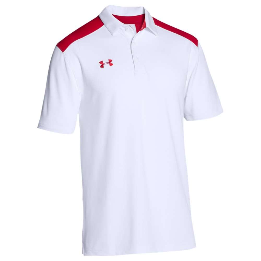 アンダーアーマー メンズ 野球 ウェア ポロシャツ【Under Armour Team Colorblock Polo】White/Red