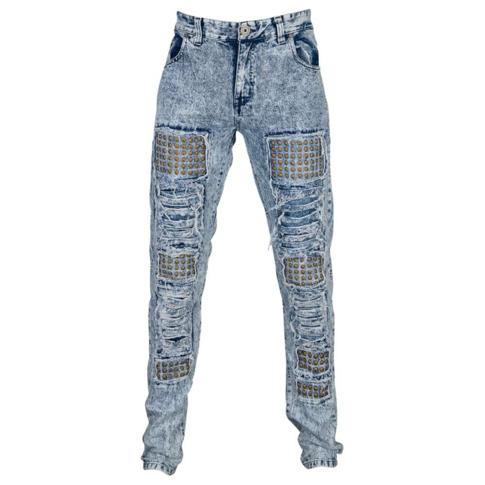 DNM メンズ ボトムス ジーンズ【DNM Stud Denim Jeans】Blue