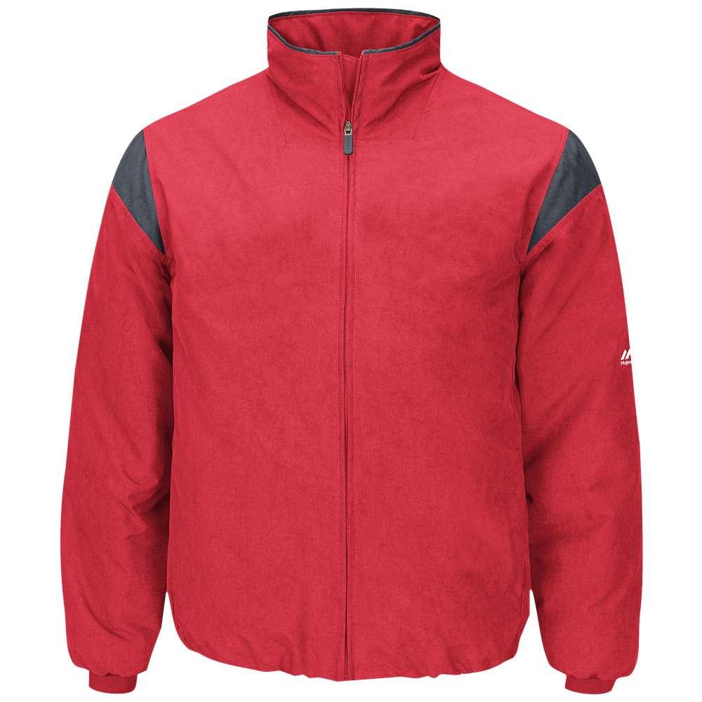 マジェスティック メンズ 野球 ウェア トップス【Majestic Premier Jacket】Team Scarlet/Pro Granite