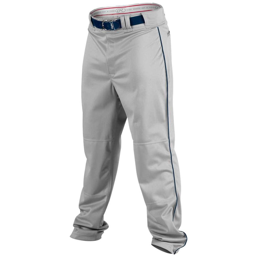 ローリングス メンズ 野球 ウェア ボトムス【Rawlings Ace Relaxed Fit Piped Pants】Blue Grey/Navy