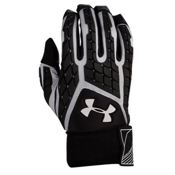 アンダーアーマー メンズ アメリカンフットボール グローブ【Under Armour Combat V Full Finger Lineman Gloves】White/Black