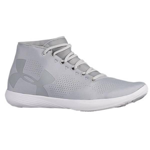 アンダーアーマー レディース フィットネス・トレーニング シューズ・靴【Under Armour Street Precision Mid】Overcast Grey/Glacier Grey