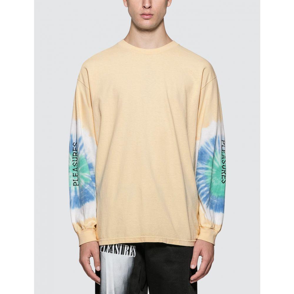 プレジャーズ Pleasures メンズ 長袖Tシャツ トップス【Not Afraid Tye Dye Long Sleeve T-Shirt】Cream