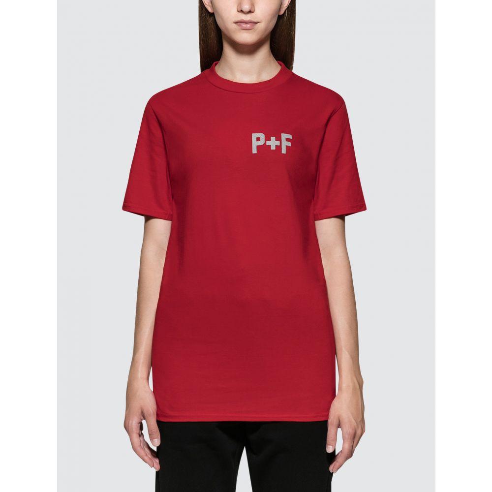 プレイス + フェイス Places + Faces レディース Tシャツ トップス【P+F Logo Reflective Short Sleeve T-shirt】Red