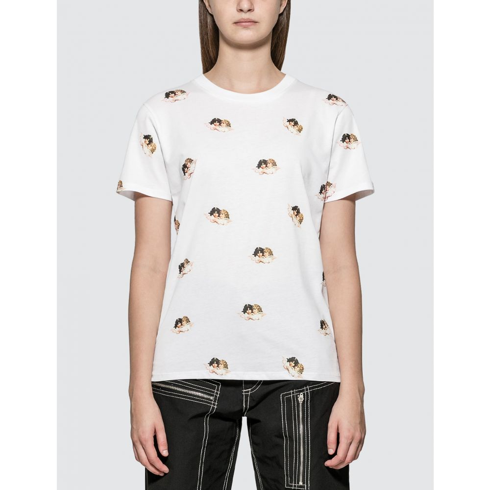 フィオルッチ Fiorucci レディース Tシャツ トップス【All Over Angels T-shirt】White