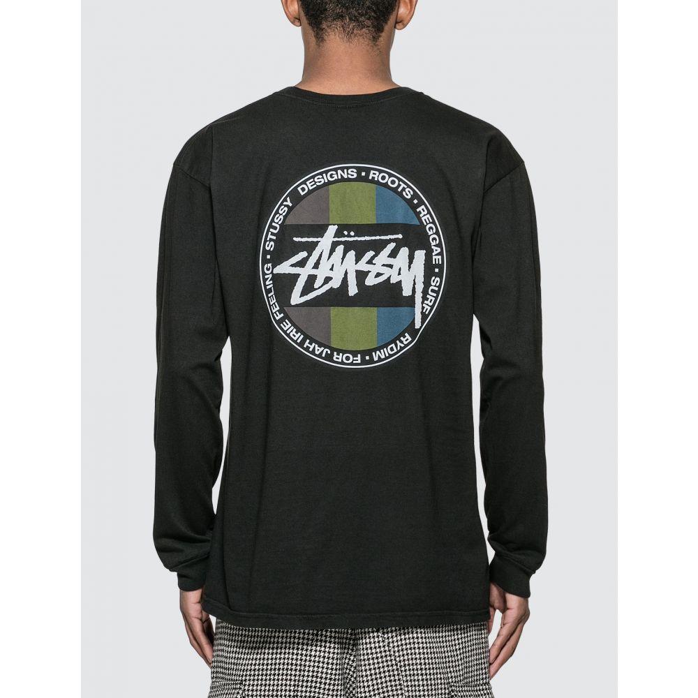 ステューシー Stussy メンズ 長袖Tシャツ トップス【Surf Dot Pig. Dyed Long Sleeve T-shirt】Washed Black